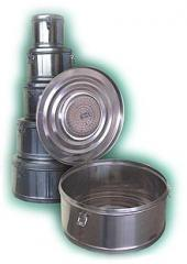 Коробка стерилизационная круглая с фильтром КСКФ-6 объем 6 дм3, диаметр 245мм,  артикул 1105
