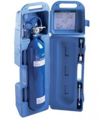 Cylinder oxygen in a plastic case of 2 l, the