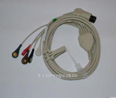 The electrocardiogram cable 3x is channel, the
