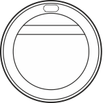 Cover on a glass of 250 ml