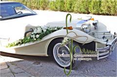 Декор свадебного кортежа, свадебный букет,