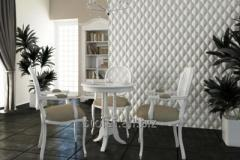 The plaster 3D panel for walls (009) 350 X 260 X