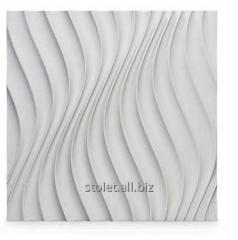 The plaster 3D panel for walls (011) 500 X 500 X