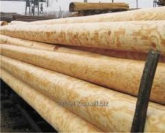 Wooden support of the high voltage line pine grade