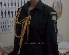 Police uniform of a new sample
