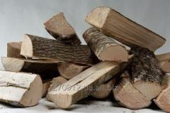 Firewood is chipped dry