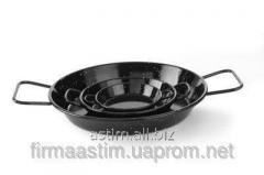 PAELLA FRYING PAN ENAMELED - WITH HANDLES 622704