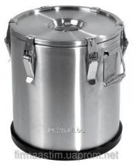 Thermos of 20 l for transportation of food of