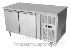 Table refrigerating 2-door with a lateral