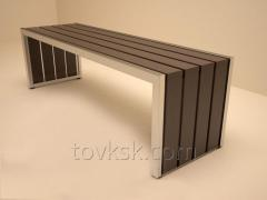 Bench from a stainless steel, A13003 product code
