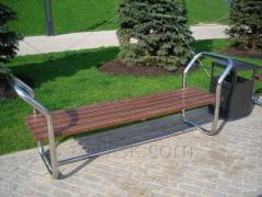 Bench from a stainless steel, A13019 product code