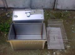 The smoking shed from a stainless steel of 2 mm,