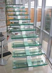 Schody ze szkła