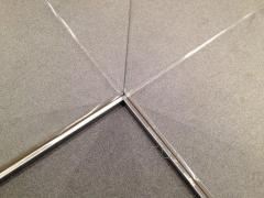 Plinth from a stainless steel floor, a product