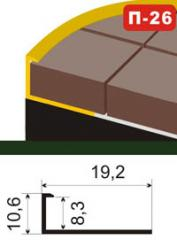 The aluminum shape under a ceramic tile of P-26
