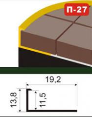 The aluminum shape under a ceramic tile of P-27