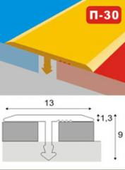 The aluminum shape under a ceramic tile of P-30