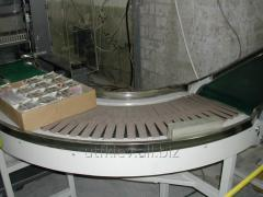 Scraping chain conveyers granulators