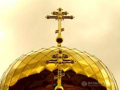 Domes of churches Orthodox, stainless steel, coated with Titanium Nitride (gold-plated)