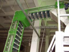 Sortation conveyor for piece goods