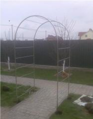 Arches, canopies, garden furniture, swing from