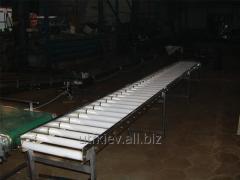 Roller conveyors, live rolls, piece cargo
