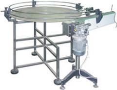 Столы конвейерные поворотные для штучных грузов
