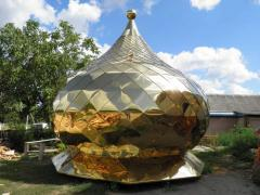 "Domes of churches Orthodox Titanium Nitride coated ""gilding"""