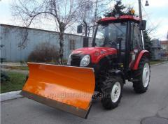 Dump for snow cleaning, means of mechanization for
