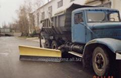 Lateral dump to the KRAZ car. Hinged equipment for
