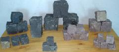 Basalt cube 10x10x10cm, division, split basalt