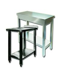 Tables – inserts corrosion-proof for installation to kitchen lines of cutting of products