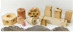 Products the high-fire-resistant mullitokorundovy