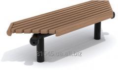Angular bench of City-Form