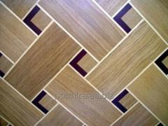 Art parquet from an oak