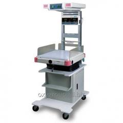 Open resuscitation rack for newborns