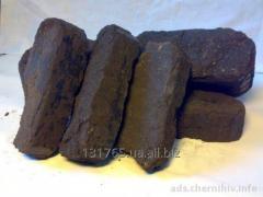 Briquette fuel peat Nestr