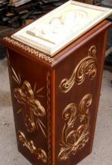 Analogion carving patina gold