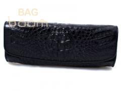 Сумкочка -клатч из кожи крокодила (FCM215 black)