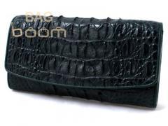 Портмоне женское из кожи крокодила (NPCM 04 BT Green)