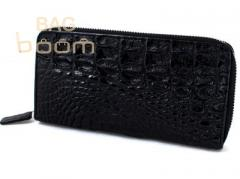 Purse from leather of a crocodile (NPCM 04H Black)