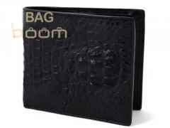 Purse from leather of a crocodile (N ALM 55 black)