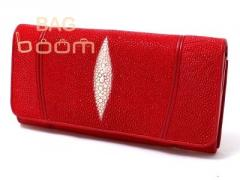 Женское портмоне из кожи ската  NST53 Red107