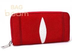 Purse from leather of a slope (NST11 Fire red)