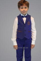 Suit children's vest, trousers, butterfly