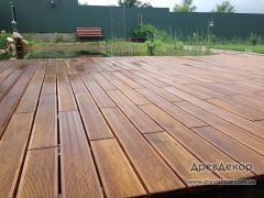 Terrace board thermoash-tree