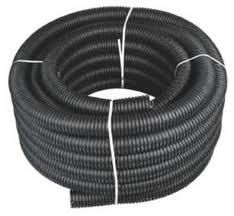 Pipes are polyethylene drainage