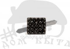Ornament square 49021 dark nickel