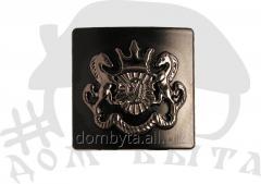 Ornament square 50288 dark nickel