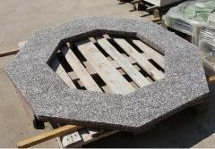 Плита на колодец, бетонная с мраморной крошкой